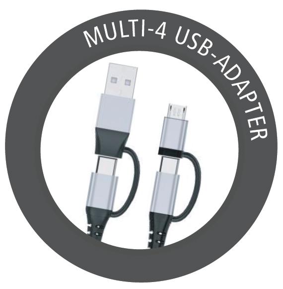 Új USB adapter kábel az Inakustik kínálatában, 4 csatlakozási lehetőséggel