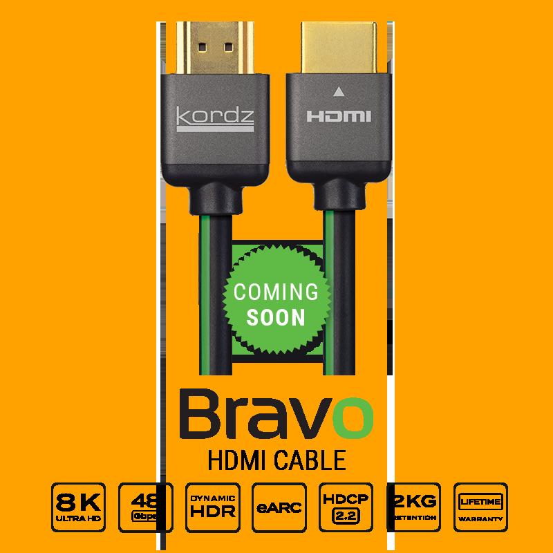 Itt az új Kordz Bravo, a világ legelenállóbb 2.1-es Ultra High Speed HDMI kábele