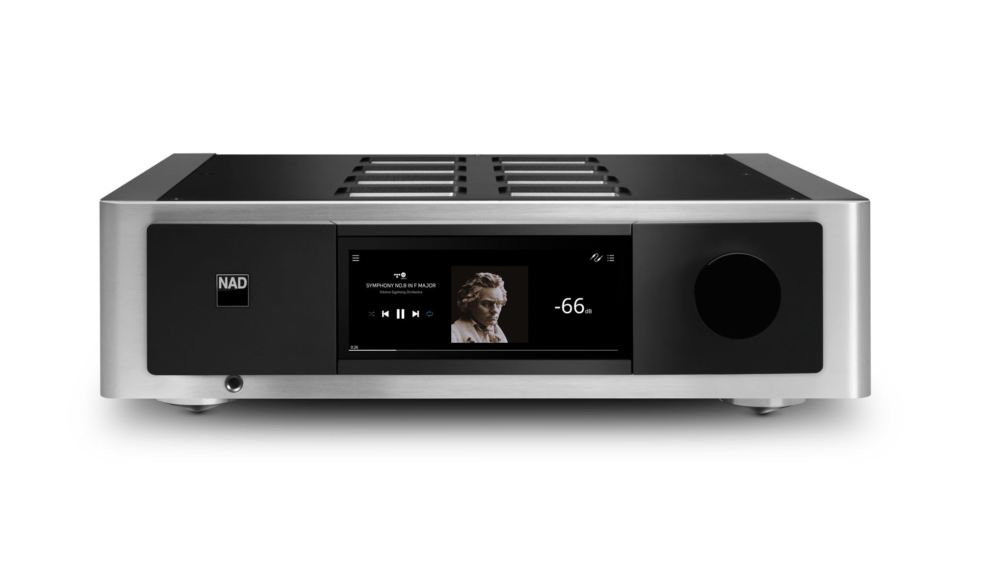 Elérhető a NAD legújabb M33-as BluOS streaming DAC sztereó erősítője